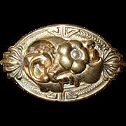 Vintage Large Floral Pin Brooch