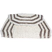 White Beaded Bag/Pouch