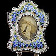 1890's-1910 Micro Mosaic Italian Miniature Picture Frame