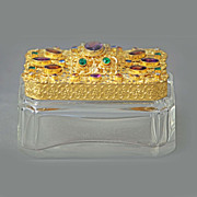 Czech Jeweled Trinket Box