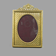 Victorian Bronze Picture Frame Made in France