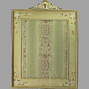 Brass Picture Frame with Fabric Insert