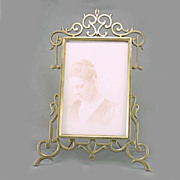 English Art Deco Brass Picture Frame