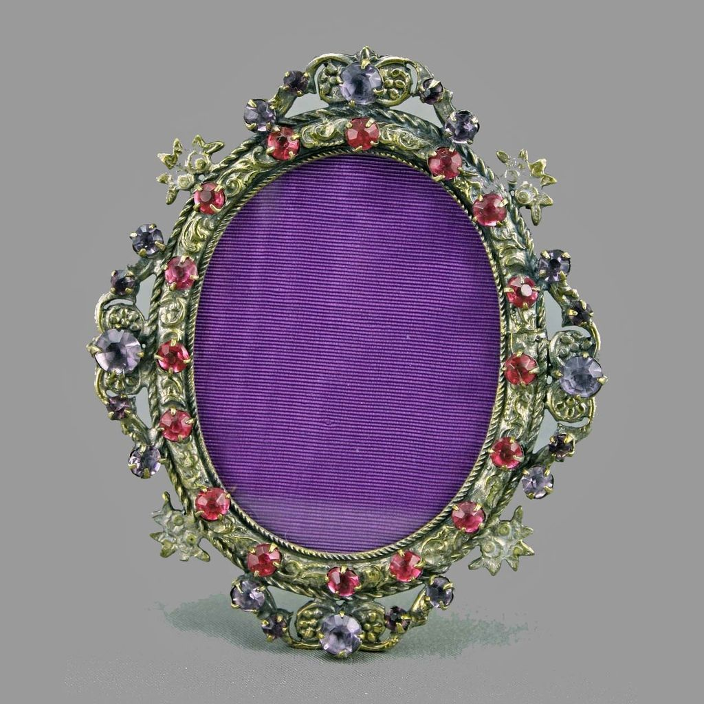 Art Deco Jeweled Mini Picture Frame From Amyantiq On Ruby Lane