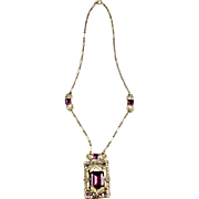 Czech Art Deco Amethyst Necklace