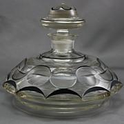 Czech Bohemian Art Deco Perfume Bottle