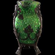 Loetz Creta Diaspora Art Glass Vase