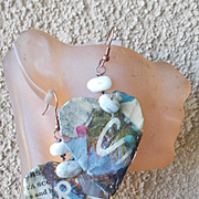 Handmade Paper Heart Earrings