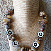 River Amber & Conch Shell Necklace