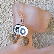 Exotic River Amber Earrings