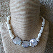 Mother of Pearl and Conch Shell Necklace