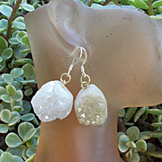 Asymmetrical Boho Crystal Druzy Earrings