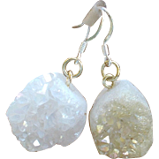 Asymmetrical Boho Crystal Druzy Earrings