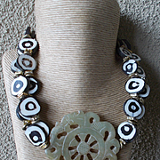 Carved Jade Street Style Necklace