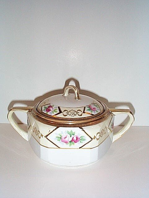 Hand Painted Noritake Sugar Bowl