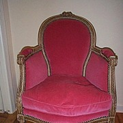 19c. Louis XVI Style Chair with Robert Allen Fabric