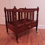 Early 19c. Sheraton Mahogany Canterbury