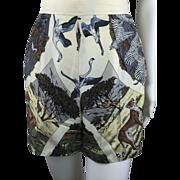 Hermes Vintage Safari Style Silk Shorts