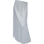 Chanel Chic Long White Skirt.  Size:12