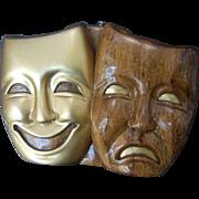 Timmy Woods Theatrical Mask Handbag. 1990's.