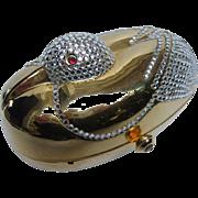 Jeweled Gilt Metal Bird Minaudière.  1980'S.