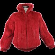 Red Mink Jacket. 1980's.