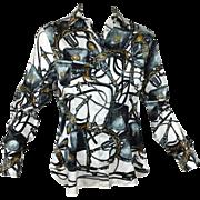 Outstanding Hermes Silk Blouse. Chemises Sur Mesure.