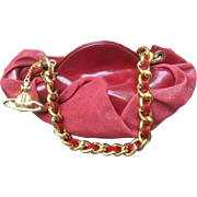 Vivienne Westwood Iconic Burgundy Baguette Handbag.