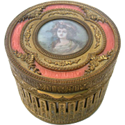 French Gilded Brass Vanity Trinket Box.