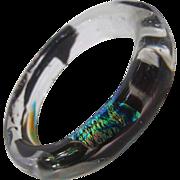 Hand Blown Art Glass Bangle Bracelet. 1990's.