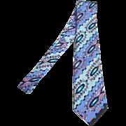 Pucci Vibrant Graphic Print Silk Tie.
