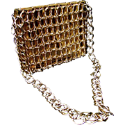 Mod Gilt Chain Link Evening Bag. 1970's.
