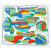 Hermes Paris Nautical Themed Silk Scarf.