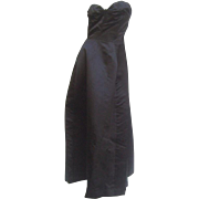 Dior Demi-Couture New York Black Silk Gown. 1950's.