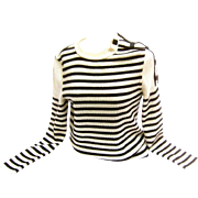Chanel Nautical Themed Sweater with Logo Buttons.
