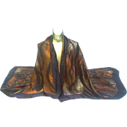 St. Laurent Rive Gauche Huge Jungle Print Silk Shawl. 1990's.