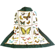 Luxurious Italian Silk Butterfly Scarf.  Huge!
