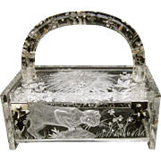 Joyce Francis Lucite Box Purse. Museum Piece. Simply Amazing!