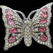 Huge Glittery Butterfly Brooch. Late 1930's.