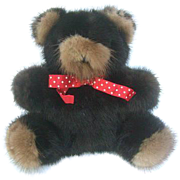 Luxurious Real Mink Fur Teddy Bear.