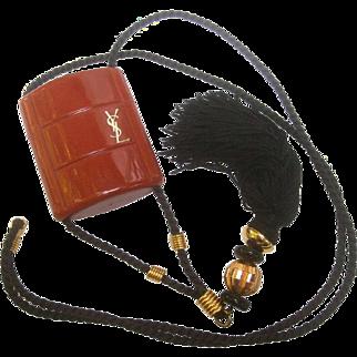 Yves Saint Laurent Opium Tassel Pendant Necklace.