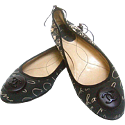 Chanel Ballet Flats with Chanel Box. U.S. Size 8. EU Size: 38.5