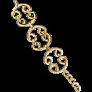 Chanel Chunky Gilt Link Bracelet. 1960's.