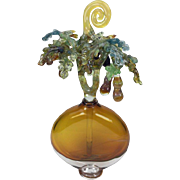Gigantic Chihuly Style Hand Blown Art Glass Perfume Bottle by Jean Amann.