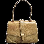 Lucille de Paris Stylish Turtle Skin Handbag. Small Size. 1960's.