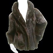 Revillon Paris Ranch Mink Cropped Jacket for Saks Fifth Avenue. 1970's.  Total Luxury!