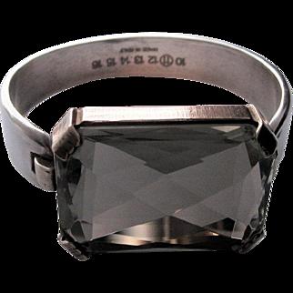 Maison Martin Margiela Vintage Sterling Silver Crystal Quartz Bracelet