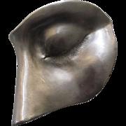 Vintage 1970s Sculptural Face Objet d'art by Christopher Ross (C. Ross)