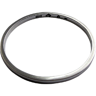 Antonio Pineda Classic 1950s Sterling Bangle Bracelet Mexico