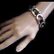 Antonio Pineda  970 Silver Onyx Heavy Link Bracelet